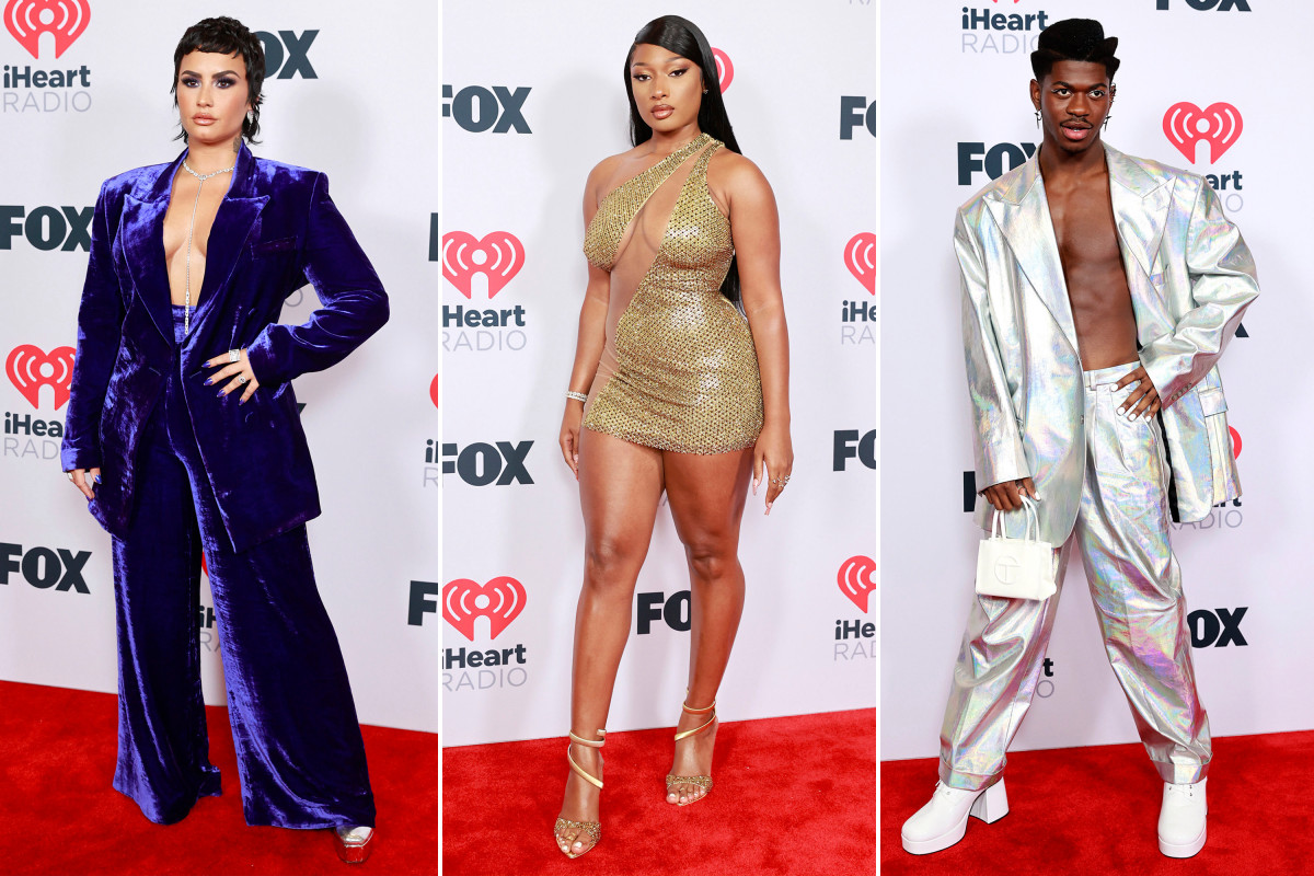 iheartradio-music-awards-2021-red-carpet:-all-the-celebrity-fashion