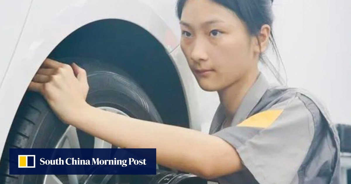 chinese-schoolgirl-mechanic-a-celebrity-after-beating-male-competitors-in-car-repair-test,-igniting-…